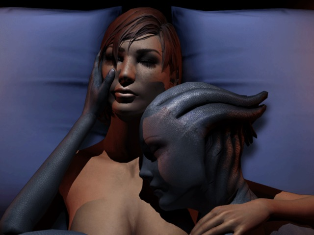 mass effect porn hentai world mass shepard effect liara soni tsoni mallyxable