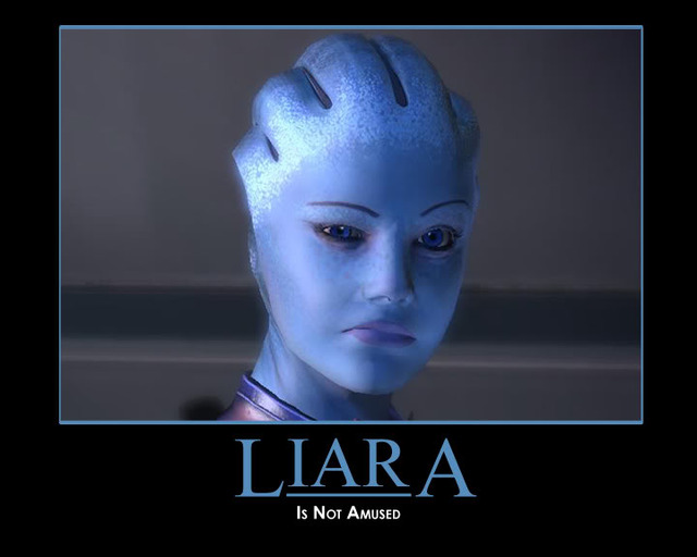 mass effect porn liara masseffect demotivator