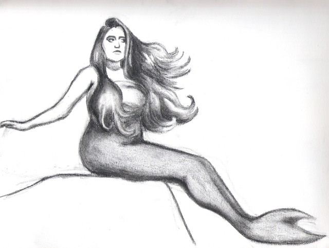mermaid porn mermaid drawing painting second preliminary