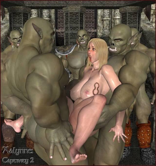 Секс с монстром хентай фото