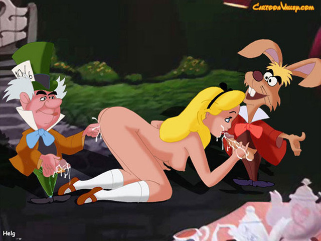 mulan and alice porn porn pics cartoon cartoonporn alice wonderland six