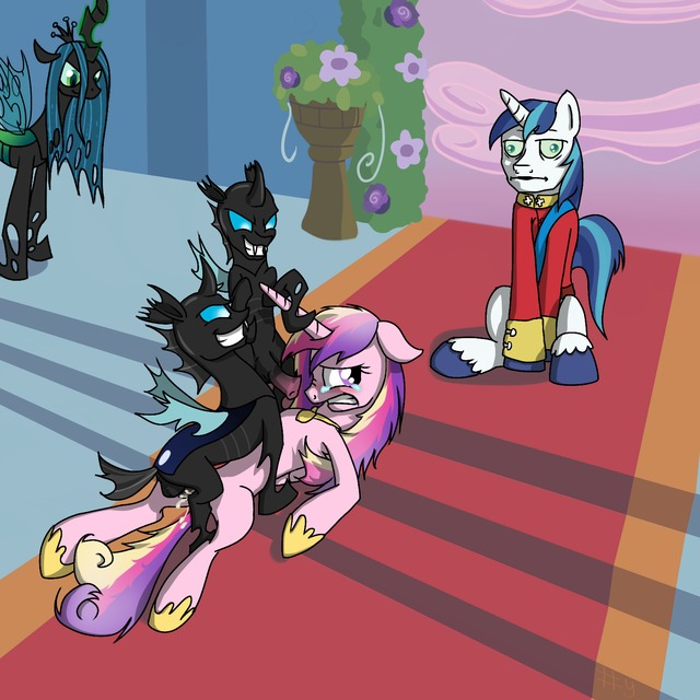 pony porn magic princess meme little queen cde friendship pony armor aff changeling cadence chrysalis shining gusta