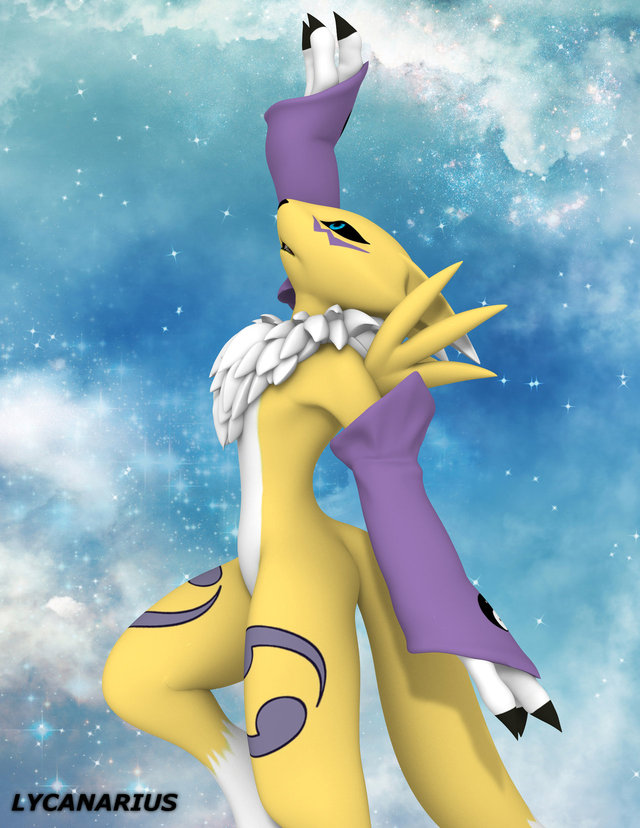 renamon porn art renamon diamond pose sky reach lycanarius usvz shards