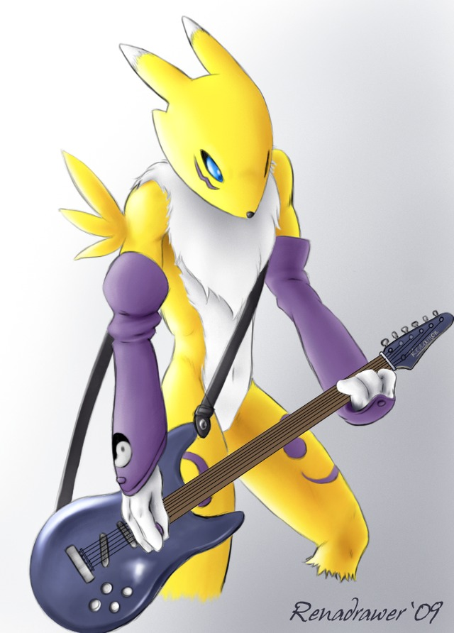 renamon porn art renamon insane solo guitar renadrawer