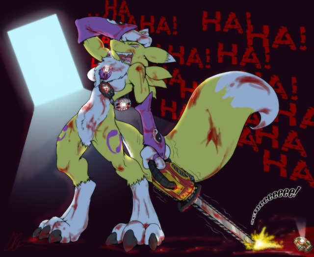renamon porn show digimon data female blood glenn fox canine chainsaw lau