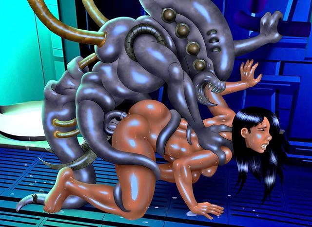 смотреть порно мультики с чудовищами
