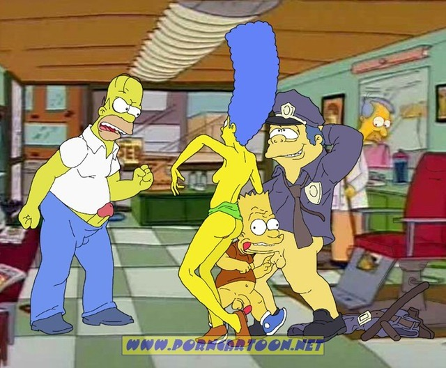 simpcest simpsons marge simpson homer bart ace chief wiggum fcdd