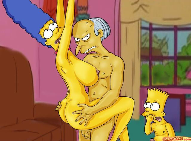 This brilliant Mr burns the simpsons marge porn final, sorry