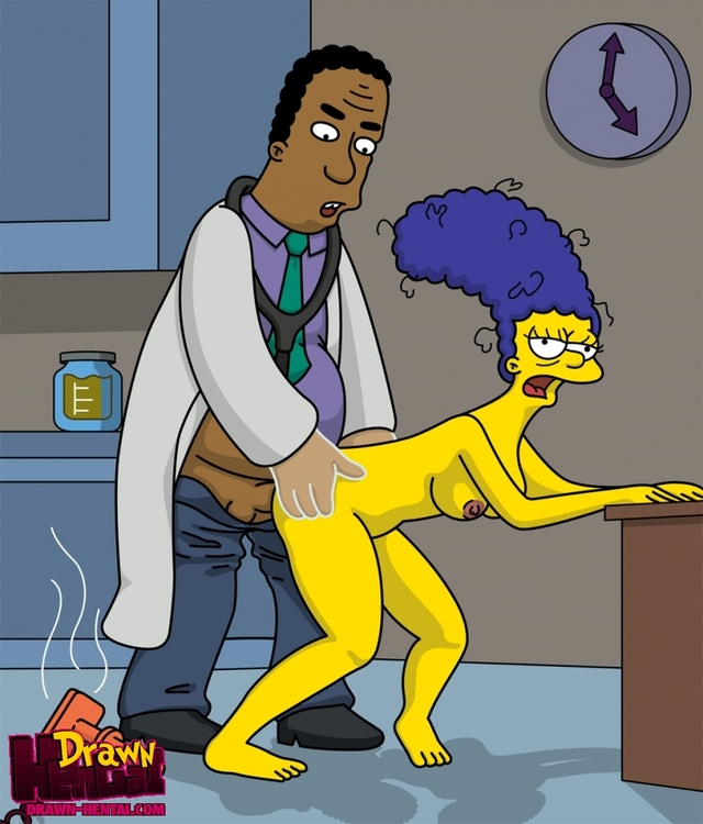 simpson hentai hentai simpsons media marge simpson drawn original julius hibbert
