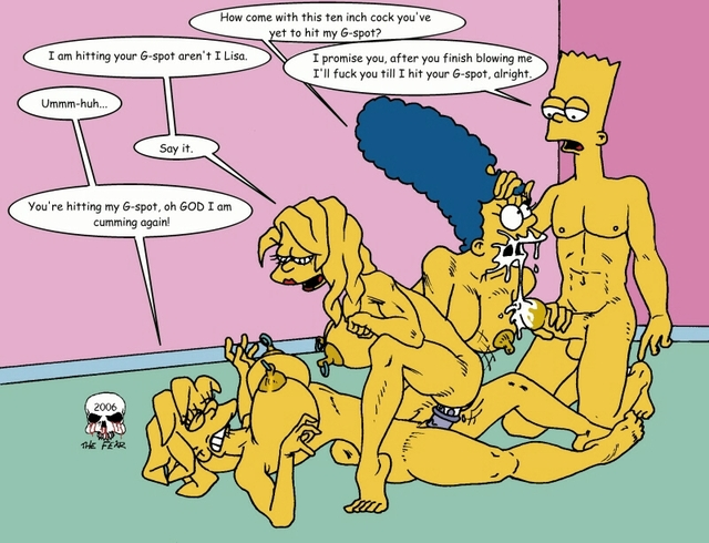 simpsons porn comic simpsons xxx marge simpson lisa bart pic fear maggie
