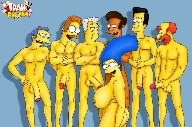 simpsons porn porn simpsons marge gets cartoons gangbanged lewd