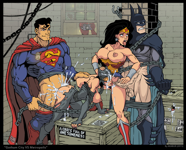 spiderman porn woman superman crossover batman spider man marvel wonder catwoman bfb akabur