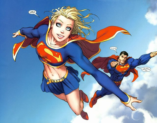 superman and supergirl fucking superman supergirl clouds