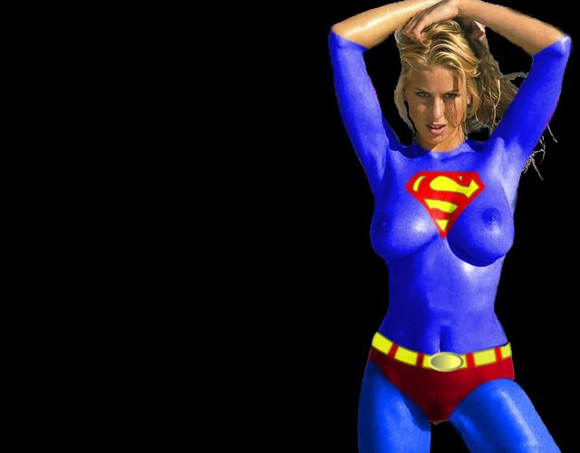 superman and supergirl fucking from girl superman supergirl bodypaint