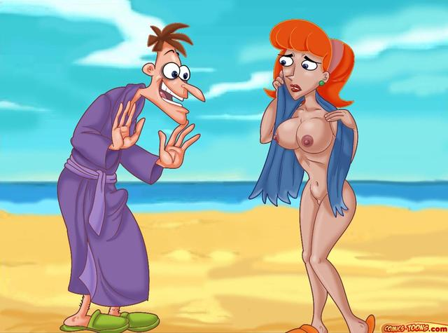 toons drilling madly porn porn media comic dba phineas ferb