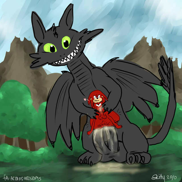 toothless dragon porn dragon sonic crossover how train toothless decc acornsarenoms knuckles echidna team