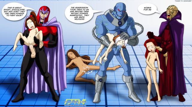 Порно комикс люди x