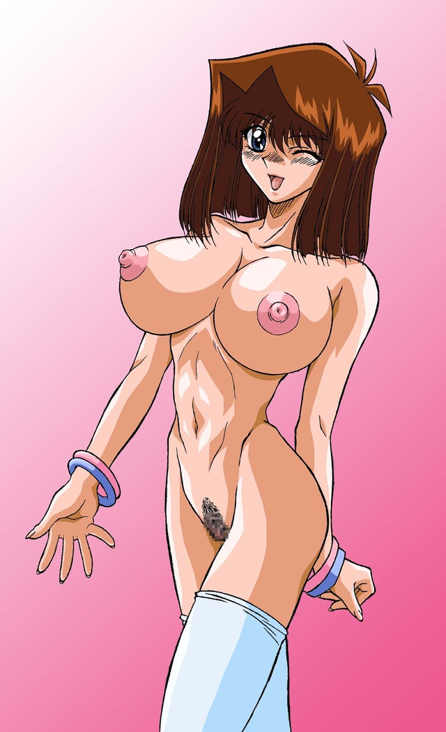 yugioh porn entry nude pussy nipples hair breasts huge censored thighhighs highres yugioh pubic wink anzu mazaki