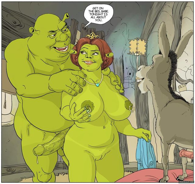 green cartoons porn media cartoon rule original shrek fiona donkey