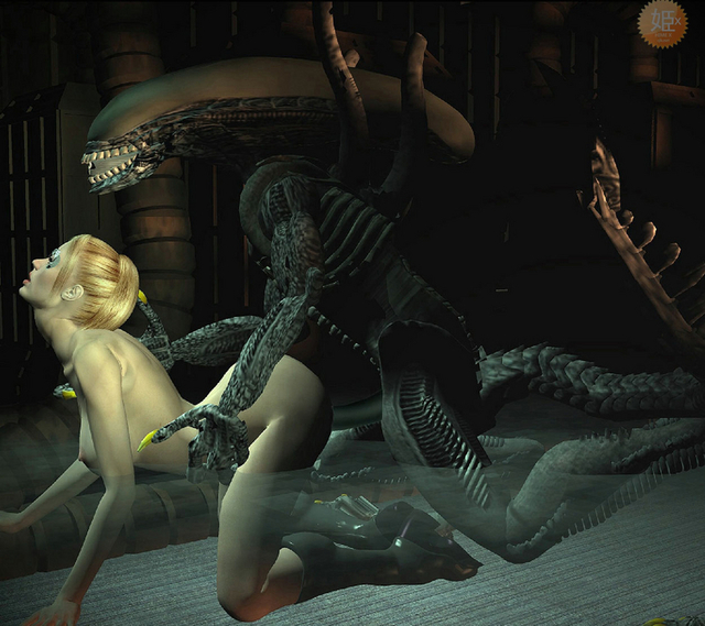 hot toons sex comics pics from monster alien behind takes blond