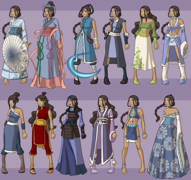 katara cartoon porn pics porn cartoon drawn fan avatar characters katara version dressup wardrobe