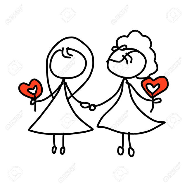 kids toon sex cartoon photo happy drawing couple hand vector same wedding stock concept atthameeni