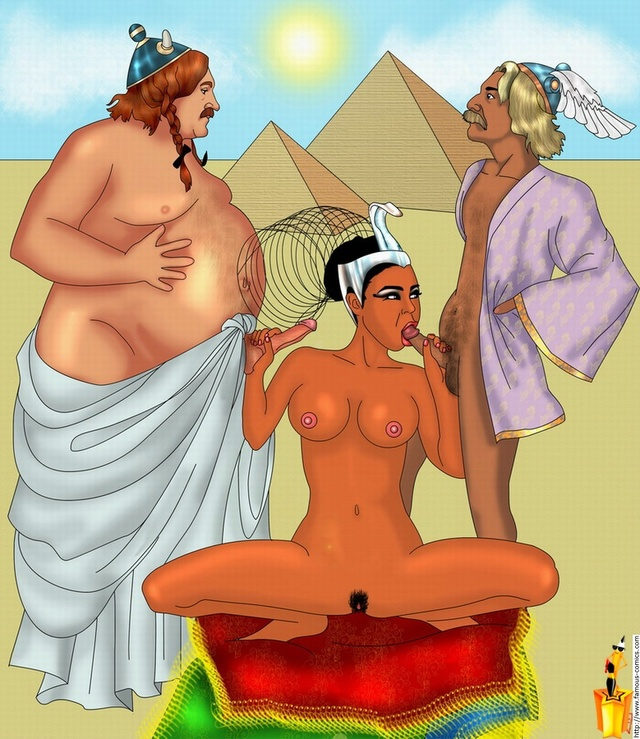 milf sex cartoons cock sucking sucked asterix obelix cleopatra