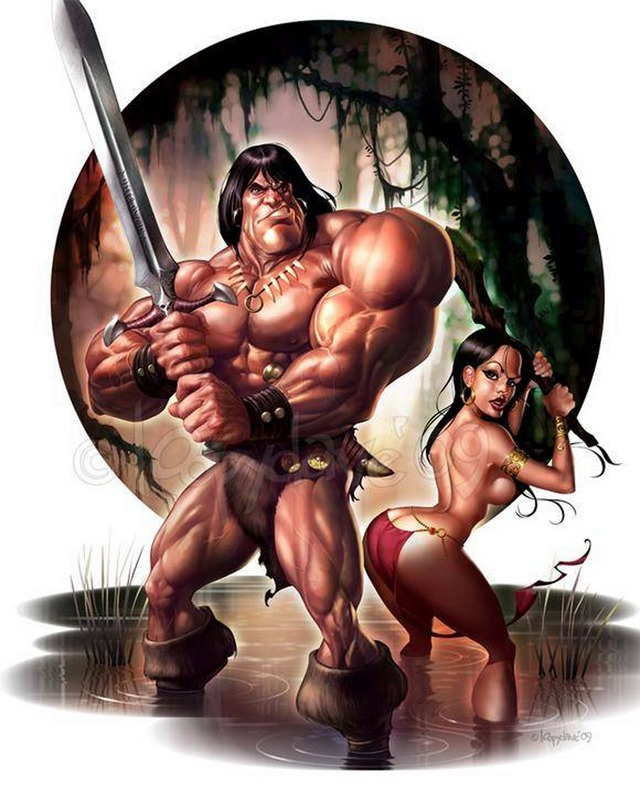 my hot ass neighbor sex comics sexy comic ass fantasy cartoons hot female red huge butt drawing booty phat neighbor dave barbarian conan sonja loopy