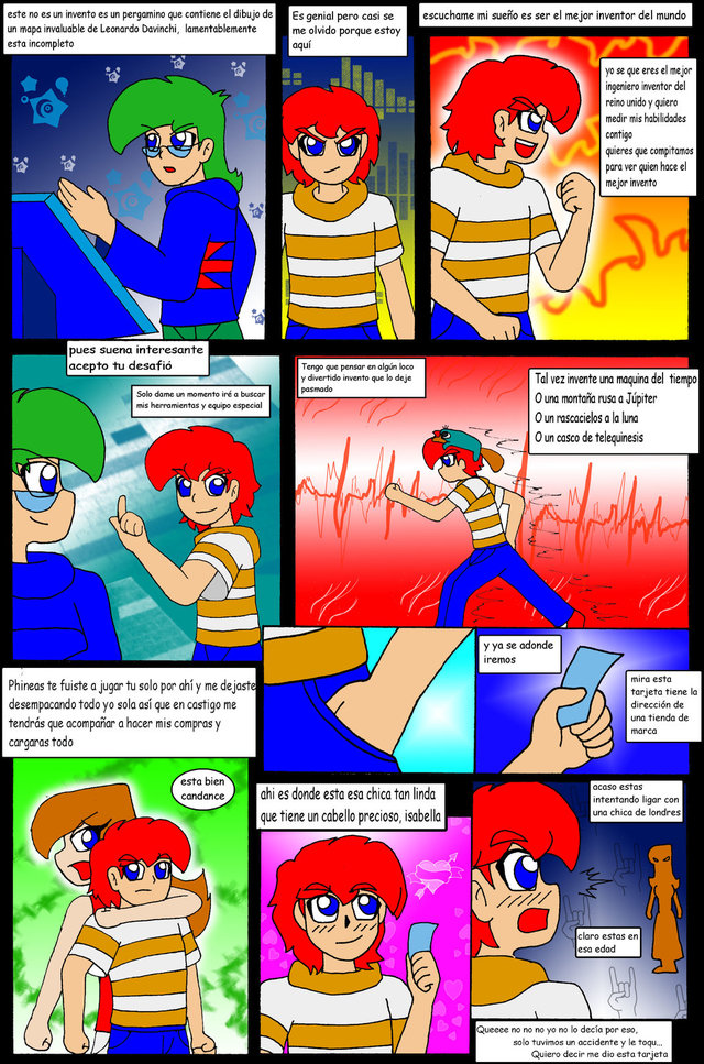 phineas and ferb porn comic comic anime color phineas ferb pag firerirock lqbow