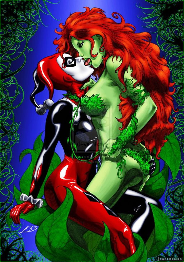 poison ivy porn comic porn media comic art rule original kiss ivy harley quinn poison lipstick