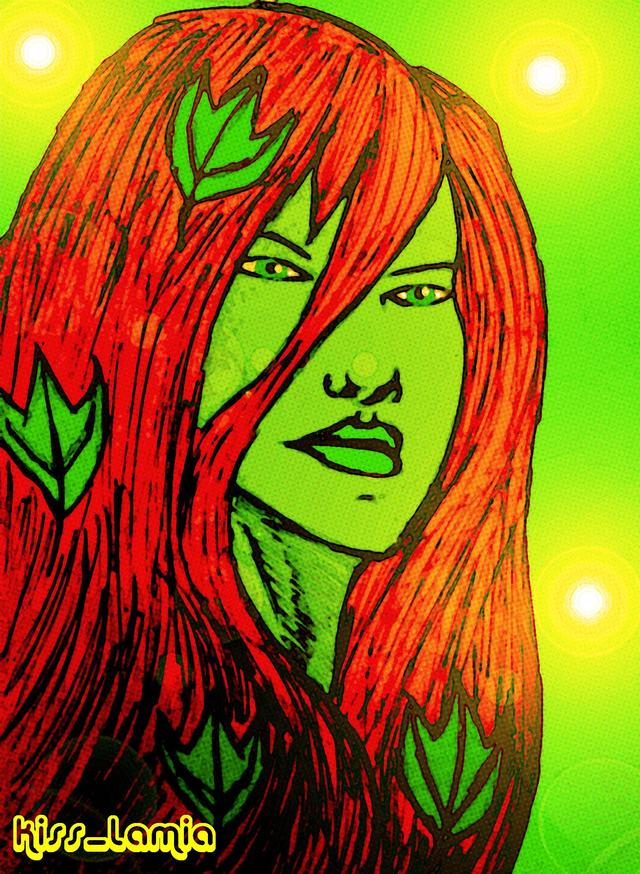 poison ivy porn comic forums show art original work artist kiss off ivy poison colour portrait lamia