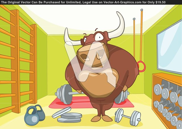 porn cartoon characters cartoon illustration fbb character bodybuilder characters bull vector exercise eps