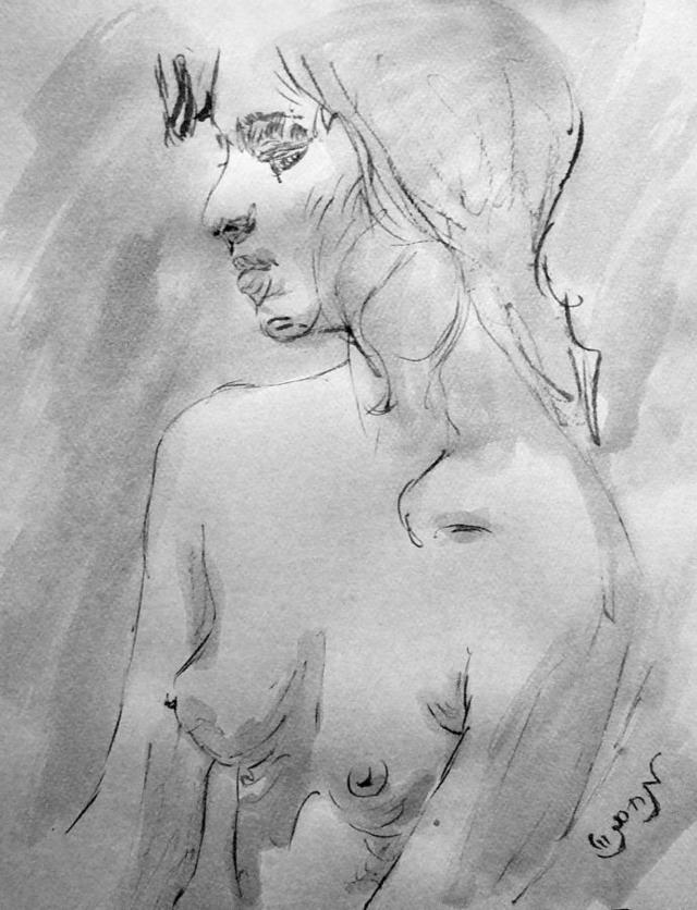 porn drawings galleries sexy woman large nude young white sketch feeling featured black zimmerman drawing portrait sensual lonely medium charcoal