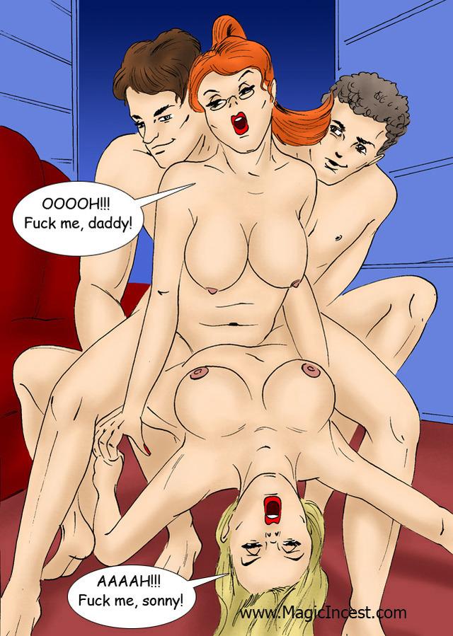 Порно комиксы оргии