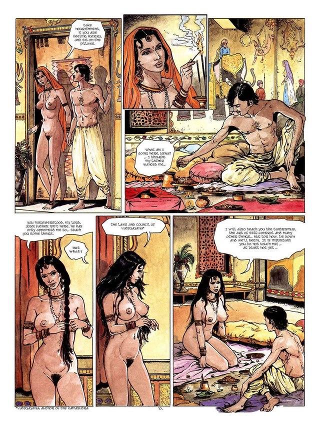 Порно комикс камасутра