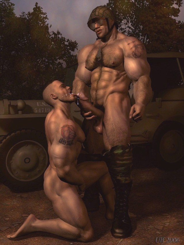 porn toons 3d pics gay passionate army cuming