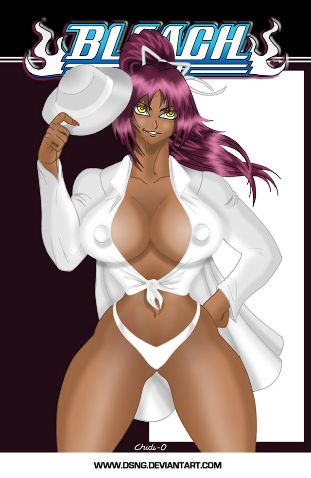 sexy cartoon tits sexy tits cartoon art anime video boobs bleach breasts huge thick promo artwork drawing phat ichigo tities yoruichi dsng yuroichi shingami bankai jayonna jayona fabro