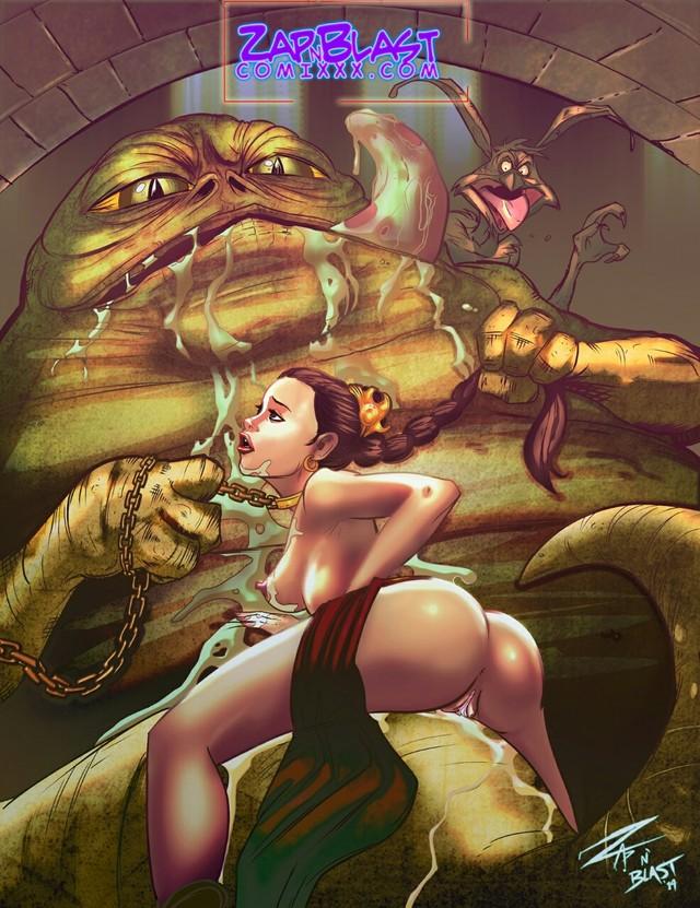 Порно принцесса лея джабба