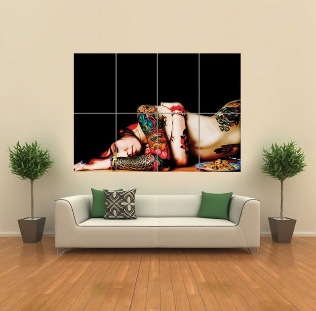 sexy naked cartoon characters sexy picture woman art poster naked lady tattoo itm wall giant print imgdata webimg
