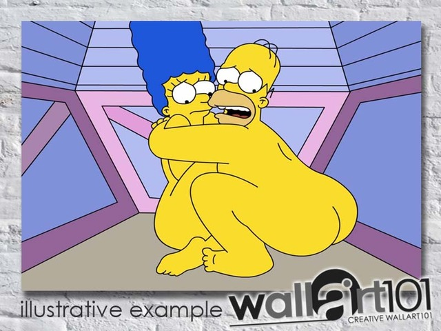simpsons cartoon naked simpsons cartoon adult marge simpson homer naked main animation scared ebay wallart