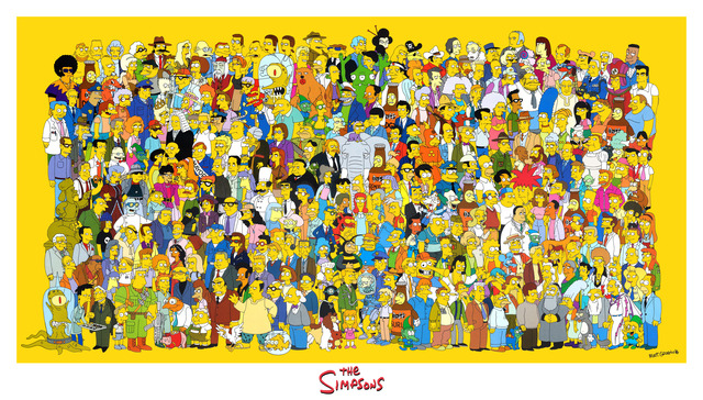 the simpson porn galleries simpsons poster giant cast