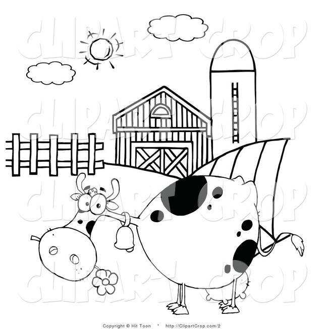 toon black porn page cartoon art toon clip white black animal animals cow coloring hit farm barnyard grazing printout