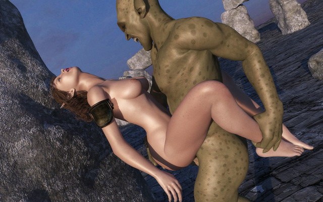 Порно фото с орком