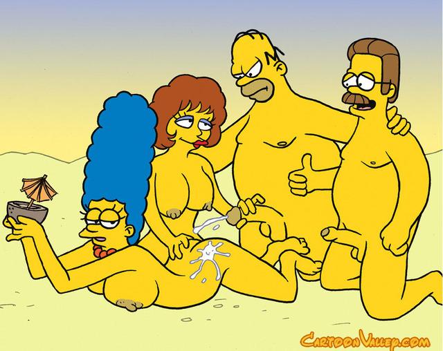 Simpsons Cartoon Gangbang - PussySpace