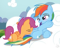 pony porn bda cutie mark crusaders friendship magic little pony rainbow dash scootaloo niggerfaggot porn all make http generalzoi deviantart art mlp fim creator beta ccb