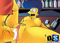 simpson porn simpsons pics horny marge simpson porn star being fucked bar