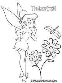 tinkerbell nude tinkerbell flower coloring page