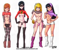 all grown up hentai all grown angelica pickles bolt fairly oddparents penny incredibles trixie tang violet parr crossover tekuho