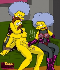 simpson hentai cfbf drawn hentai ned flanders patty bouvier selma simpsons