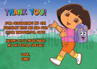 dora the explorer porn afu dora explorer thank card home invitation